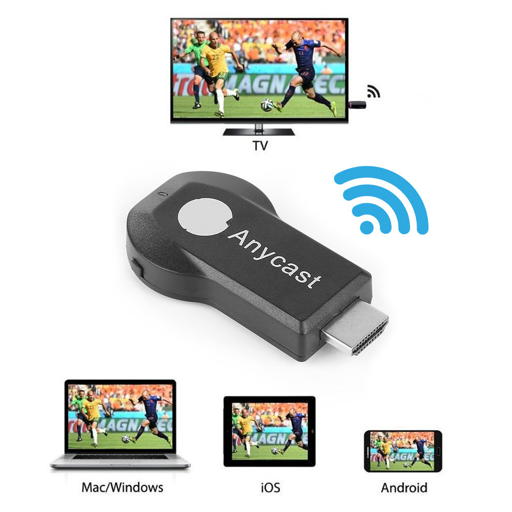 1080P Anycast M9 Plus Miracast Any Cast Wireless DLNA AirPlay Mirror HDMI TV Stick Wifi Display Dongle Receiver for IOS Android