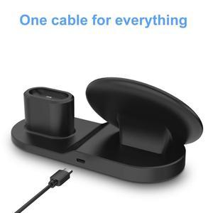 Image 5 - FDGAO Qi Drahtlose Ladegerät Schnelle Lade für iPhone 11 8 X XS XR Apple Uhr 5 4 3 2 Airpods pro 10W 3 in 1 Für Samsung S20 S10