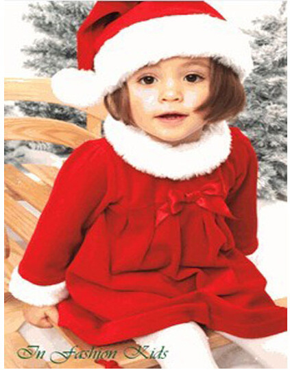 fe703c5ec 3 sets/lot New Style Baby Girl Santa Claus Dress Christmas Rompers with Cap  Children Clothing Sets for Xmas