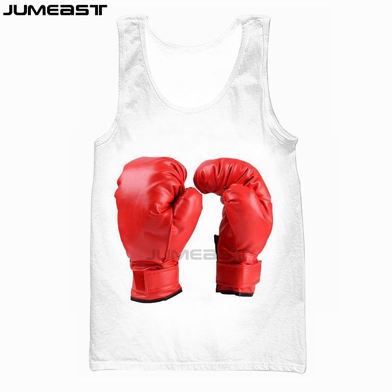 US $11.99 |Jumeast Brand MenWomen 3D Printed Vest Hanging Boxing Gloves Short Sleeve New Fashion Sport Pullover Summer Tank Tops Tees in Tank Tops