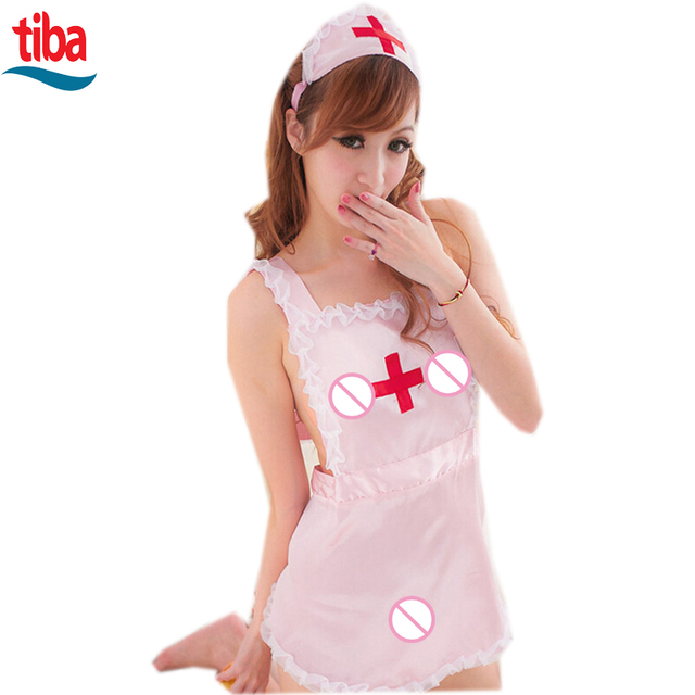 TB-0515 Hot COSPLAY temptation to nurse Sexy lingerie women costumes Sex Products toy Sexy underwear Role play Pink White