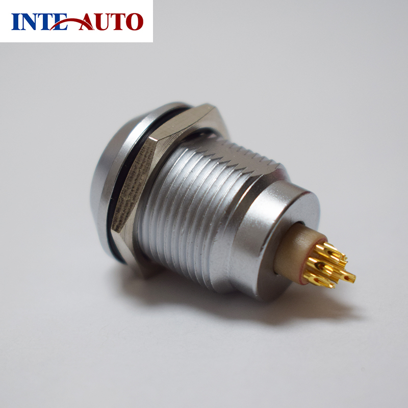 lemo m14 waterproof wire socket,2,3,4,5,6,7,9 pins,ciruclar metal connector,cross LEMO EGG 0K series