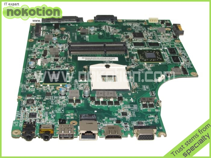 NOKOTION DAZR7BMB8E0 for Acer aspire 5745 laptop Motherboard MBRAF06002 Intel HM55 Non-integrated ATI 216-0772000 Mainboard mb psm06 001 mbpsm06001 for acer aspire 4745 4745g laptop motherboard hm55 ddr3 ati hd5470 512mb discrete graphics mainboard
