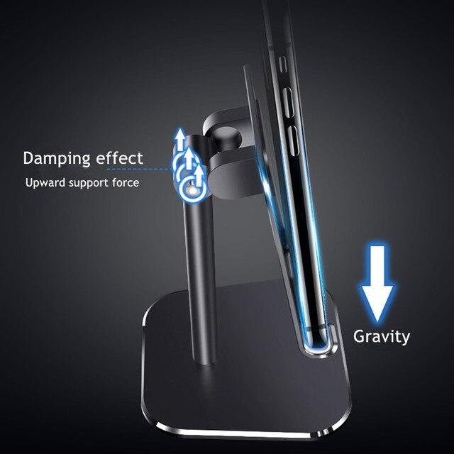 Support de tablette Réglable En Métal support de bureau Pour Samsung Huawei Support iPad Portable Universel support pour téléphone