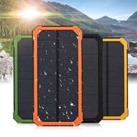 Waterproof Portable Source Ultrathin Large Capacity Solar Mobile Power Bank Phone Charging Treasure Outdoor