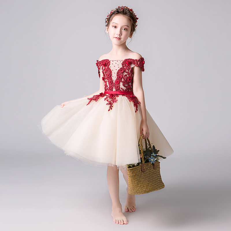 Kids Girls Flower Dress Baby Girl Butterfly Birthday Party Dresses Children Fancy Princess Ball Gown Wedding Clothes kids girls flower dress wedding birthday party dresses children fancy princess ball gown dress dq821