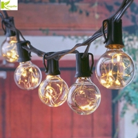 220V 7.5M G40 Globe Bulb Copper Wire Retro LED String Lights Lamp For New Year Party Christmas Wedding Waterproof Decoration