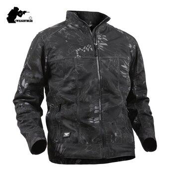 664d21661fb Product Offer. Военный камуфляж Для мужчин s тактическая куртка мужской  многофункциональный ...