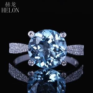 HELON Solid 10kt White Gold 10