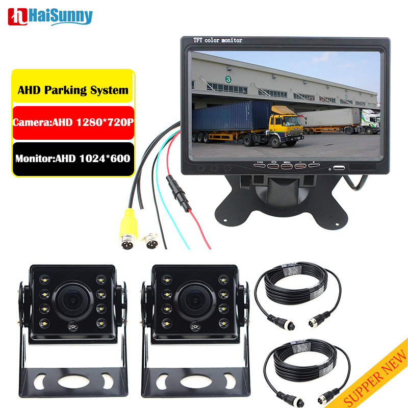 Камера ночного видения AHD, камера заднего вида с монитором 1280*720P, водонепроницаемая Ahd камера для грузовиков, автобусов, прицепов, автофургон