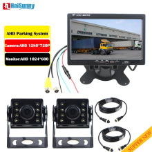 Night Vision Truck Bus Trailer RV Reverse Parking Camera Monitor System With AHD 1280*720P MCCD Rear View Camera 24v Waterproof mr9504 720p bus monitor system with gps module