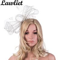 A333 2016 New Style White Women Hairbands Sinamay Polka Dot Bow Fashion Lady Brands Headwear Free