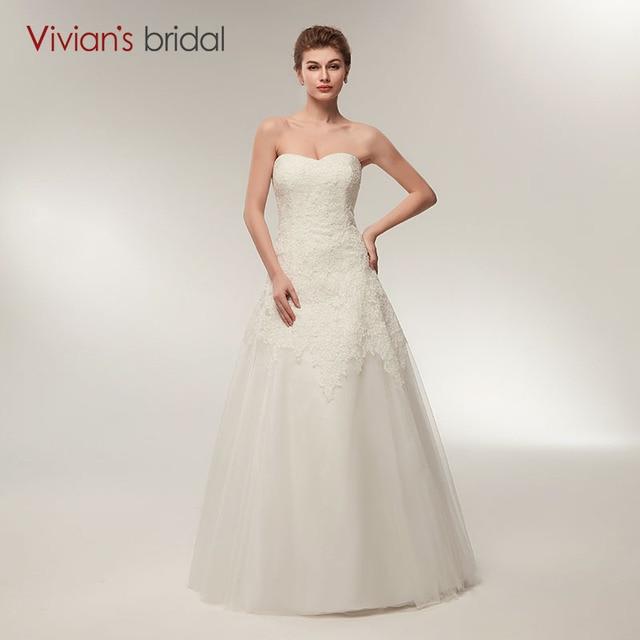 vestido de noiva Simple Wedding Dress Vivian\'s Bridal Backless ...