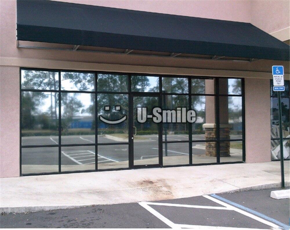 VLT 25% miroir fenêtre teinte argent fenêtre Film pour bâtiment maison bureau verre Film taille: 1.52*30 m/Roll