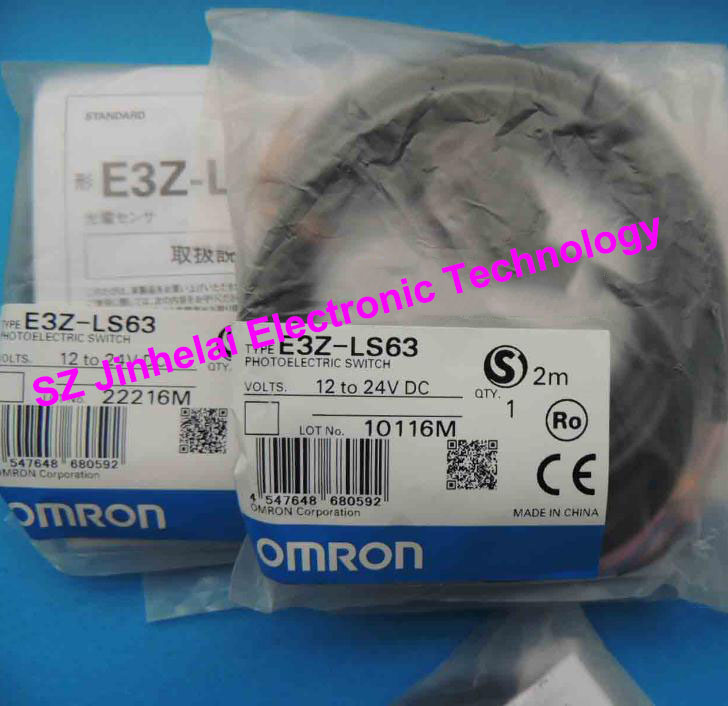 100%New and original OMRON PHOTOELECTRIC SWITCH  E3Z-LS63 2M BY OMS [zob] new original omron omron photoelectric switch e3s gs1e4 2m e3s gs3e4 2m
