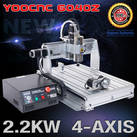 4 Axis CNC Milling Machine CNC 6040 Router Engraver USB 2.2KW Rotary Axis CNC Controller and Limit Switch