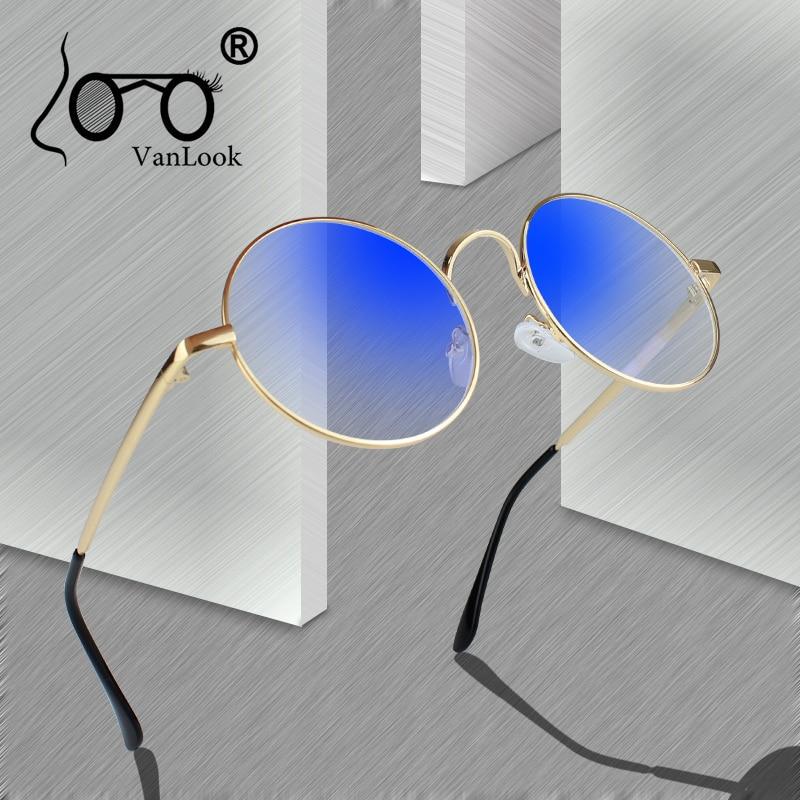 Round Glasses Transparent for Computer Lenses Metal Frame Eyeglasses Women Men Anti Blue Ray Oculos De Grau Spectacles
