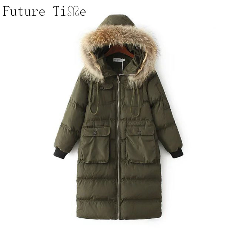 Future Time Fur Collar Ladies Coats 2017 Winter Coat Women Parka Long Thick Slim Womens Coats And Jackets Outerwear PU021 ecopharmacology and its future forensic implications