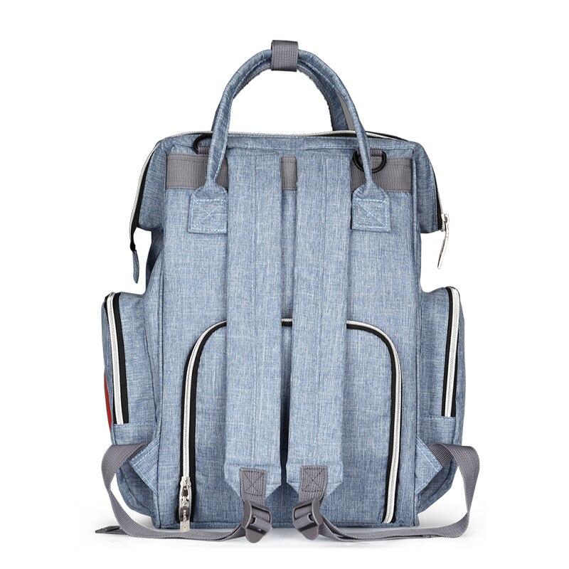 Moda mamá bolsa de pañales de maternidad marca de gran capacidad - Pañales y entrenamiento para ir al baño - foto 5