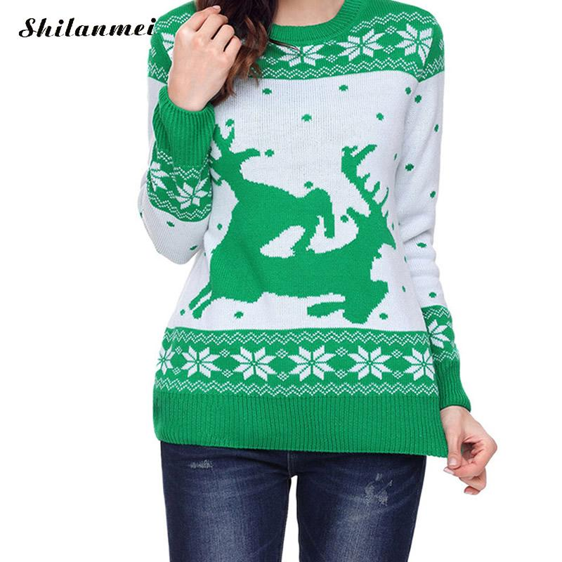 Women Ugly Christmas Sweaters Casual Jesus Print Long Sleeve Autumn ...