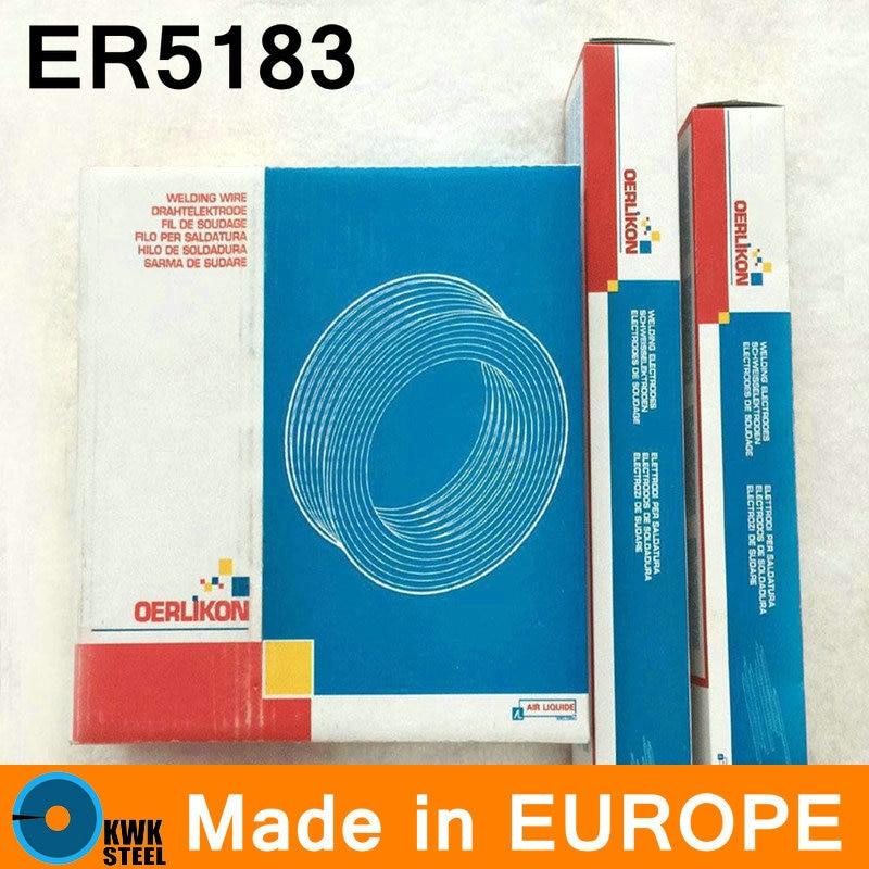 ER5183 OERLIKON Made in Switzerland Aluminum Welding Wire Premium Quality Welding Wire 0.9-4mm Free Shipping professional welding wire feeder 24v wire feed assembly 0 8 1 0mm 03 04 detault wire feeder mig mag welding machine ssj 18