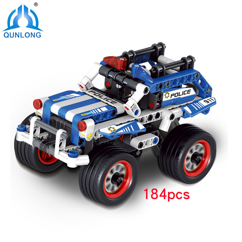 City Police Building Blocks Racing Car Education Action Figures DIY Bricks Toys Compatible Legoe Minecraft City Enlighten Kids