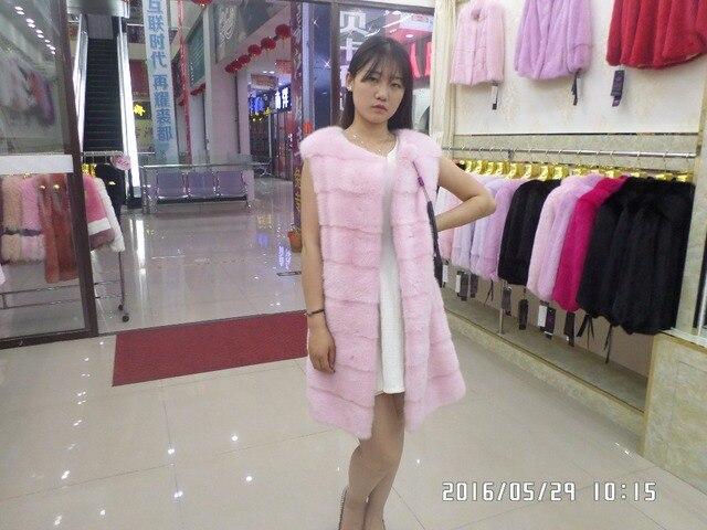 Length 80CM Mink Fur Vest