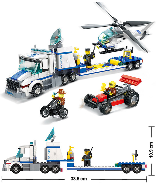 Wange Model Building Kits Compatible With Lego City Police