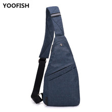 купить Men's Crossbody Bags Chest Bag for Men, Fashion waterproof and Theftproof canvas bag leisure outdoor travel bags free shipping. дешево