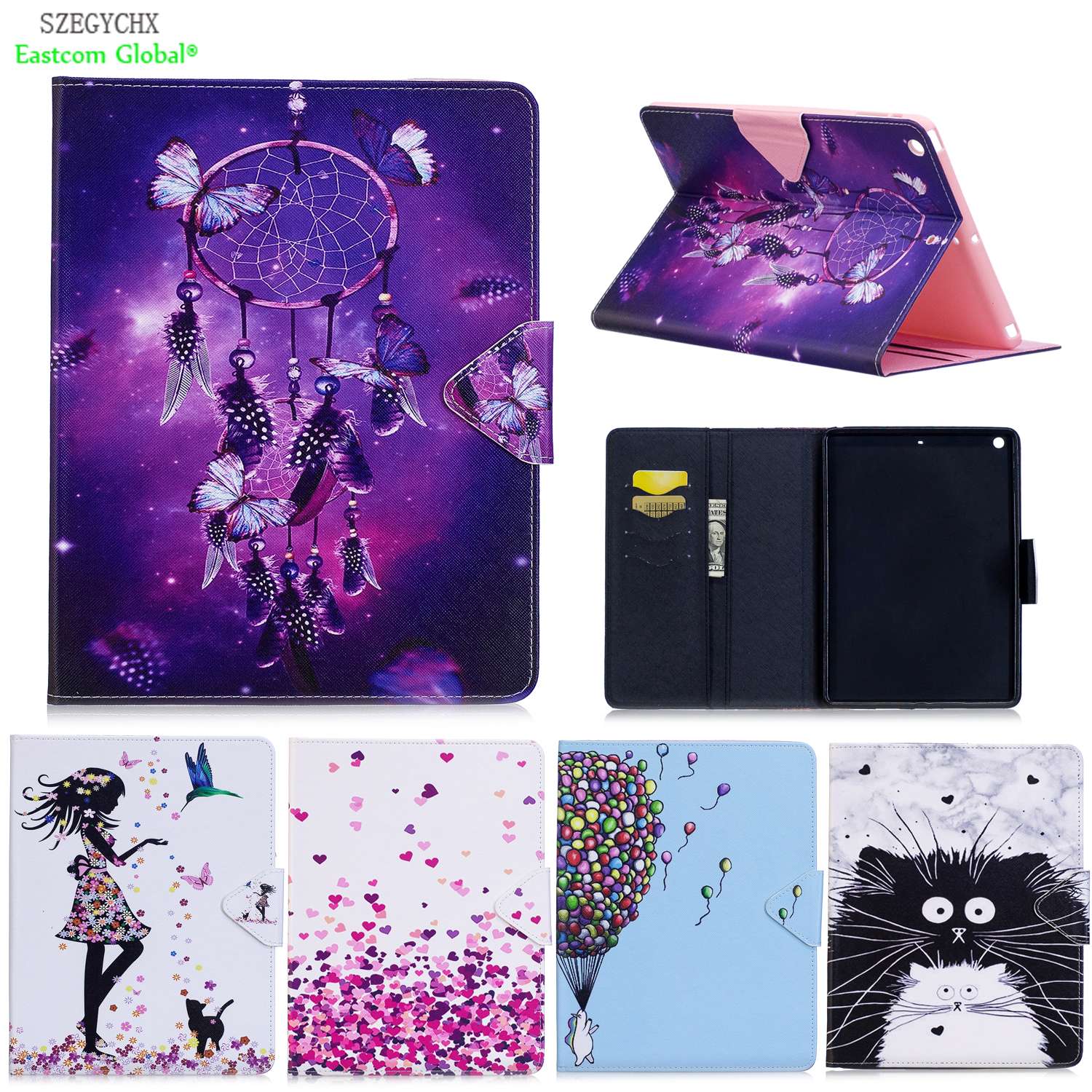 цена на Cover For iPad Air 1,PU Leather Smart cover Stand case For ipad 5 Tablet Case For iPad 9.7 inch Protective cover