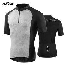 Men Cycling Jersey Tops Black+Gray Racing Clothing Ropa Ciclismo Short Sleeve MTB Bike Shirt Maillot Man