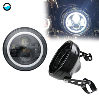 7 INCH LED moto rcycle Koplamp moto Zwart moto rcycle Accessoires 7inch behuizing emmer trim ring. op