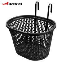 Cesta de bicicleta dobrável  cesta de plástico para guidão  pannier  malha portátil  cesta frontal  pp  acessórios de bicicleta mtb
