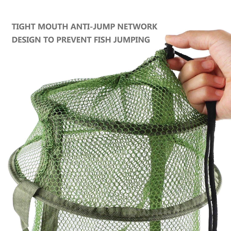 Malha da Rede De pesca Armadilha Dobrável Gaiola de Peixe/Pesca Mantenha Net/Cesta para Manter o Iscas Lagostim Caranguejo Peixes Smelt