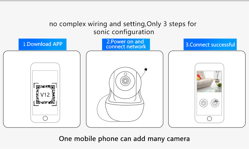 N_eye PTZ Wireless Camera 1080P HD Baby Monitor Portable