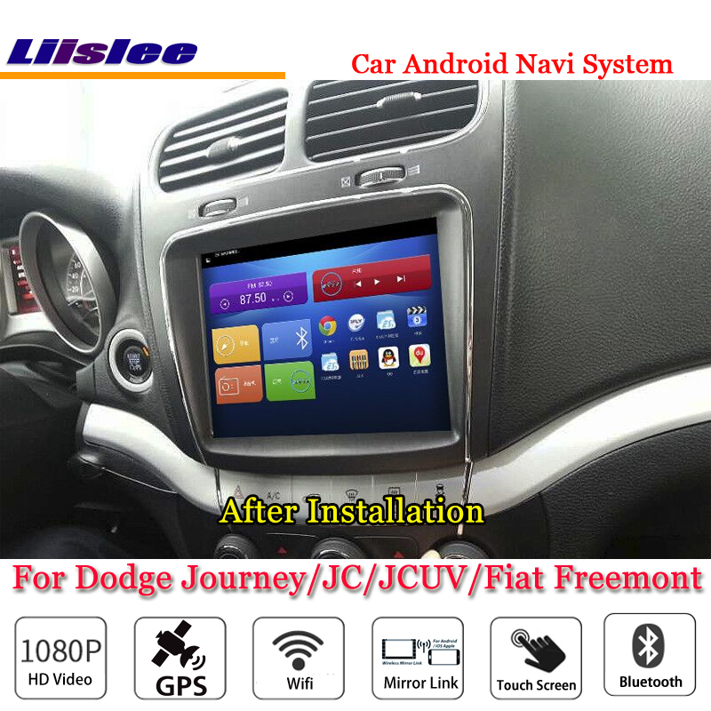 цена на Liislee For Dodge Journey / JC / JCUV / For Fiat Freemont Car Android GPS Navi Navigation Radio Stereo Screen Multimedia System