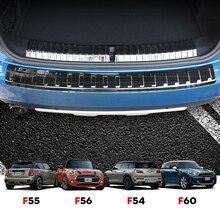 Amortecedor do carro tronco rearguard traseiro interior exterior placa protetor guarda guarnição capa adesivo para mini cooper f54 f55 f56 f60 accessroies