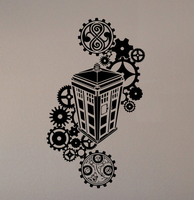 Online Shop Doctor Who Movie Cartoon Wall Stickers Vinyl Decals