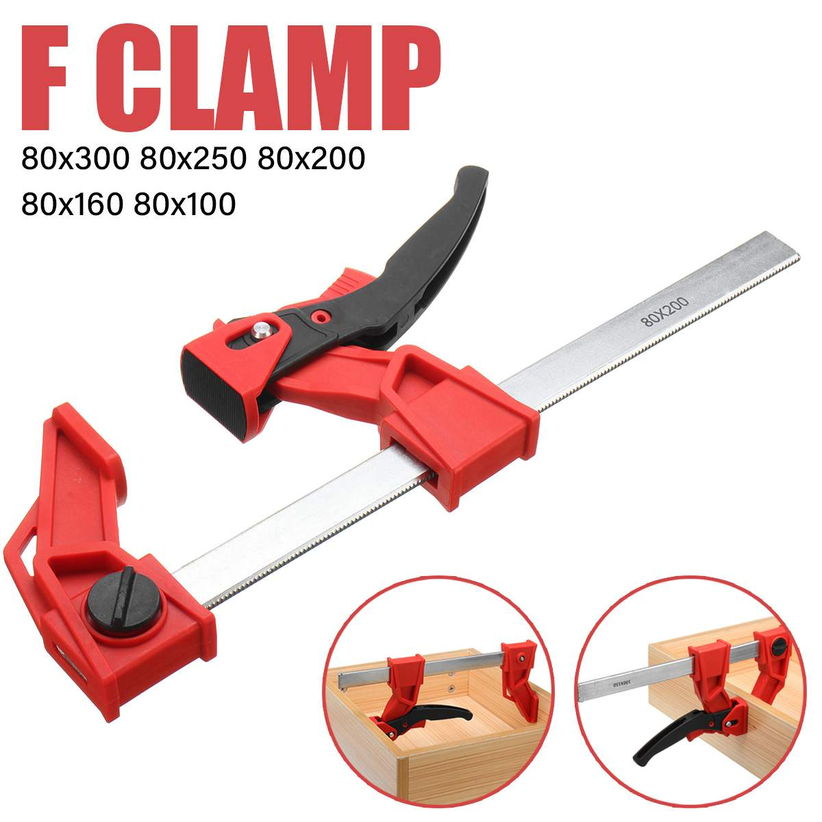 80mm F-Clamp Heavy Bar Quick Ratchet Release Parallel Clamp Clip Clamps for Woodworking Wood Carpenter Clamps Long Cramp Clamps80mm F-Clamp Heavy Bar Quick Ratchet Release Parallel Clamp Clip Clamps for Woodworking Wood Carpenter Clamps Long Cramp Clamps