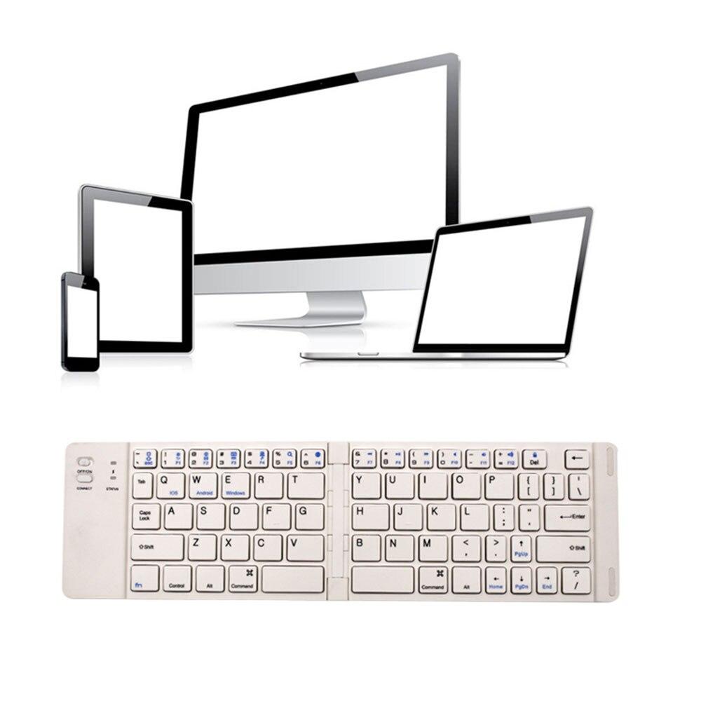 Amzdeal Bluetooth 3.0 клавиатура складная Тетрадь клавиатуры Портативный Игровые Ноутбуки универсальный принадлежности для Оконные рамы IOS Android ...