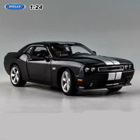 1:24 Dodge 2012 Alloy Super Sports Car Static Models Office Decoration Toy Children Boy New Years Gift