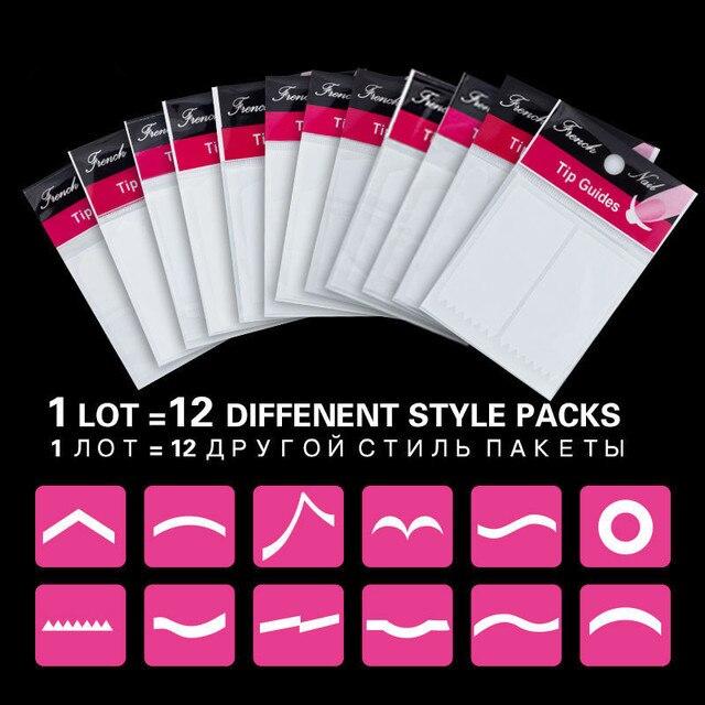 1 Lot=12packs Nail Art Tips Nail Decoration Nail Sticker Nail Art ...