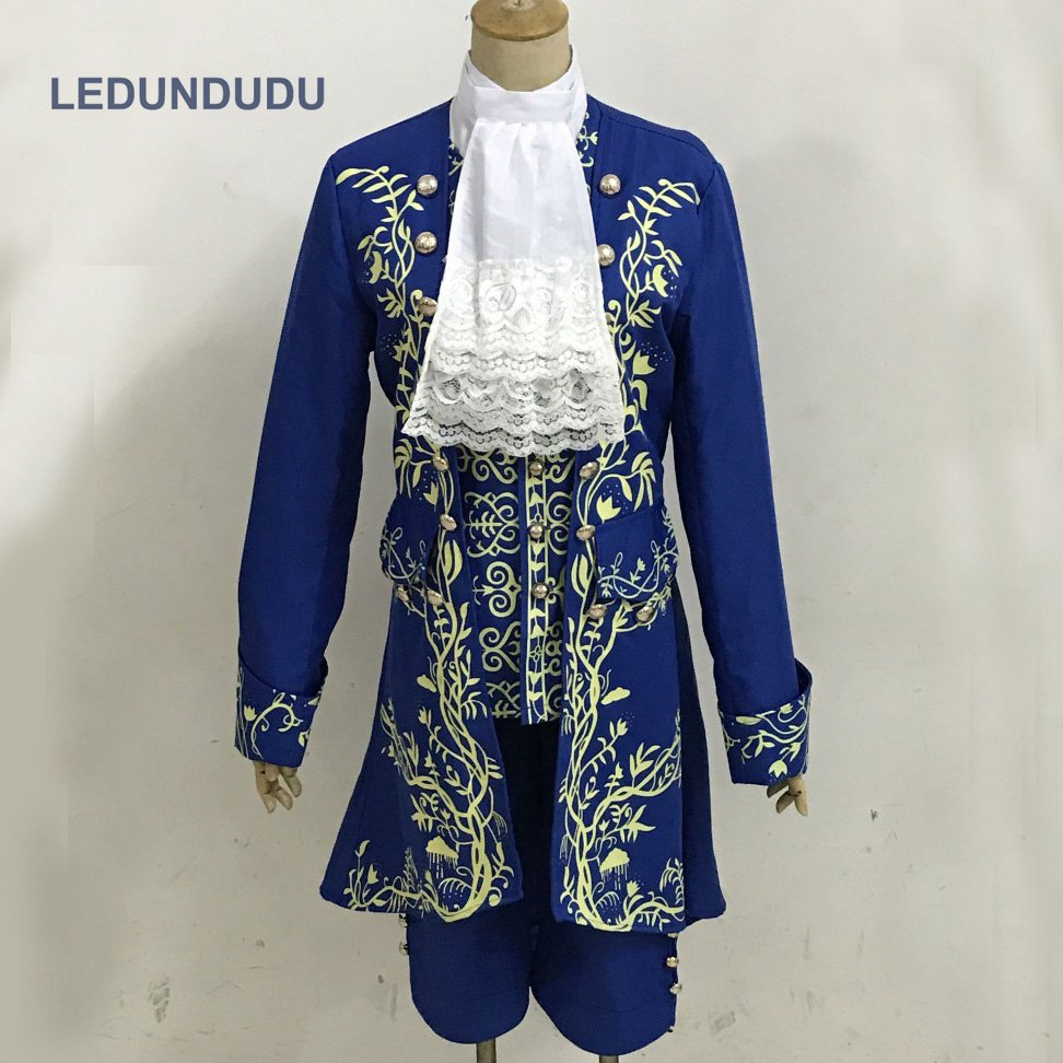 2017 Cartoon Beauty and the Beast Cosplay Costumes Prince Uniform Men Fancy Party Outfit Full set for Halloween