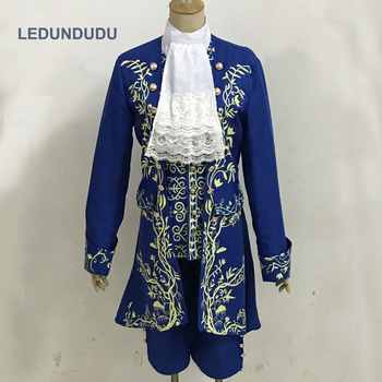 2017 Cartoon Beauty and the Beast Cosplay Costumes Prince Uniform Men Fancy Party Outfit Full set for Halloween - DISCOUNT ITEM  10% OFF All Category