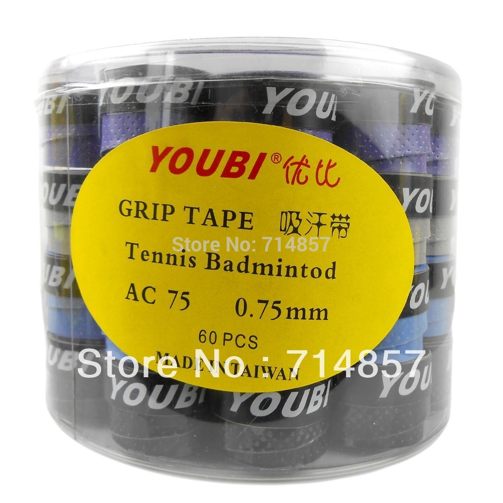 60 pieces of YOUBI AC75-1 tennis / badminton grip