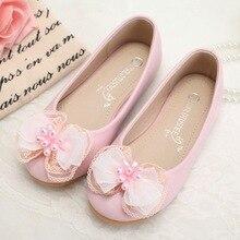 6bc733905746e6 Großhandel 5 Paare los Leder Kind Schuhe Schmetterling dekoration Hochzeit  Blumenmädchen Schuhe Beige rosa