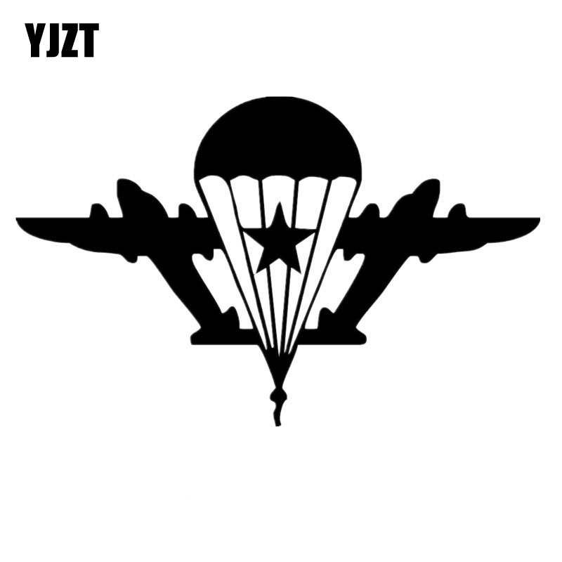 13X8.2CM Fashion Russian Paratroopers Vinyl Decals Car Window Sticker Black/Silver Car-styling S8-1148