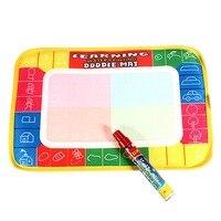 Divertida alfombrilla mágica para aprender a dibujar  dibujo  lienzo  tablero de escritura con bolígrafo de agua para niños  juguete para niños  Color blanco|writing board|canvas board|painting canvas -