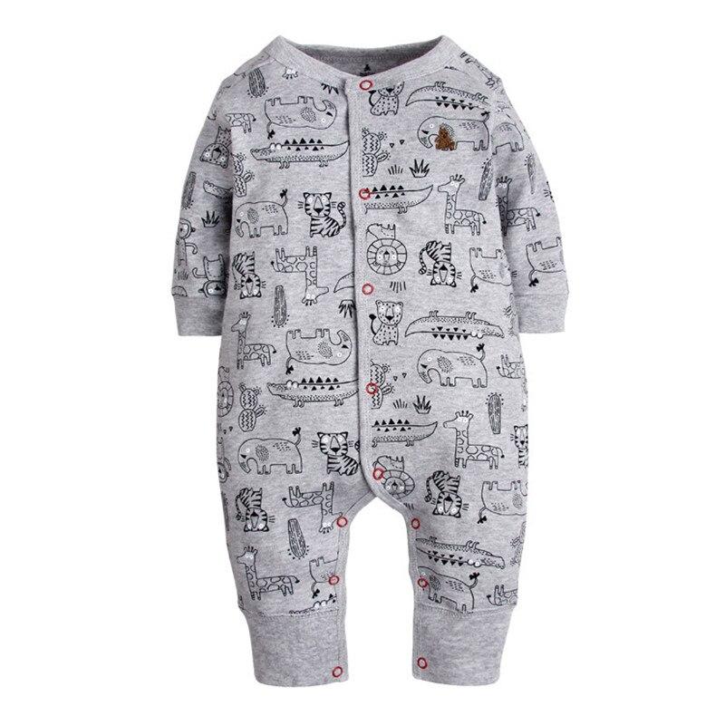 2018 New Fashion Newborn Baby Ropmer Cartoon Car Long Sleeve Baby Boy Girl Clothes 100% Cotton Sleepwear Baby Rompers Free ship