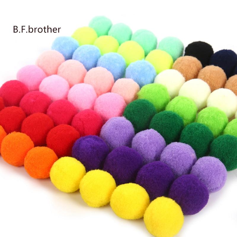 B.F.brother Decoration Pompom For Handicrafts Materials Diy Craft Supplies Kids Toy Wedding DIY Crafts Sewing Pom Poms Balls 5cm